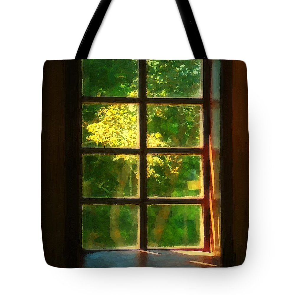 Autumn Tote Bag featuring the painting View From The Orwell Corner Church by RC DeWinter
