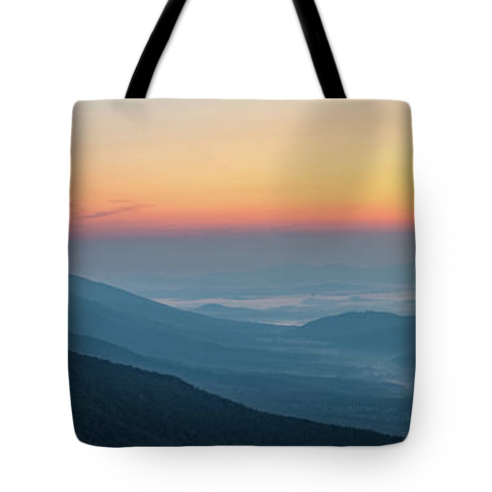 Tote Bag featuring the photograph View From The Top by Steve Hammer