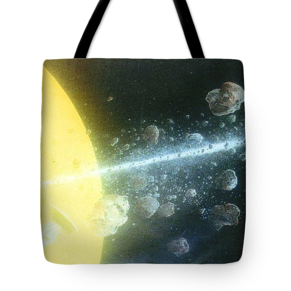 Spacescape Tote Bag featuring the painting View Master by A Robert Malcom