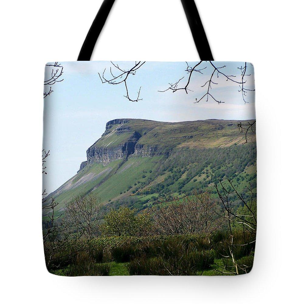 Irish Tote Bag featuring the photograph View Of Benbulben From Glencar Lake Ireland by Teresa Mucha