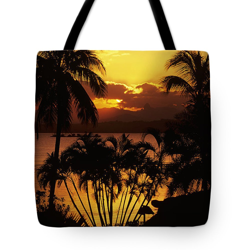 Bay Tote Bag featuring the photograph View Of Fiji by Larry Dale Gordon - Printscapes