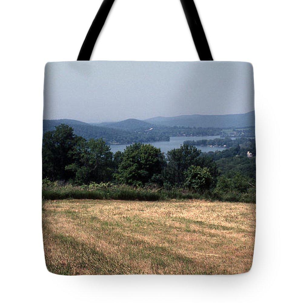 Lake Waramaug Tote Bag featuring the photograph View Of Lake Waramaug by Richard Rizzo