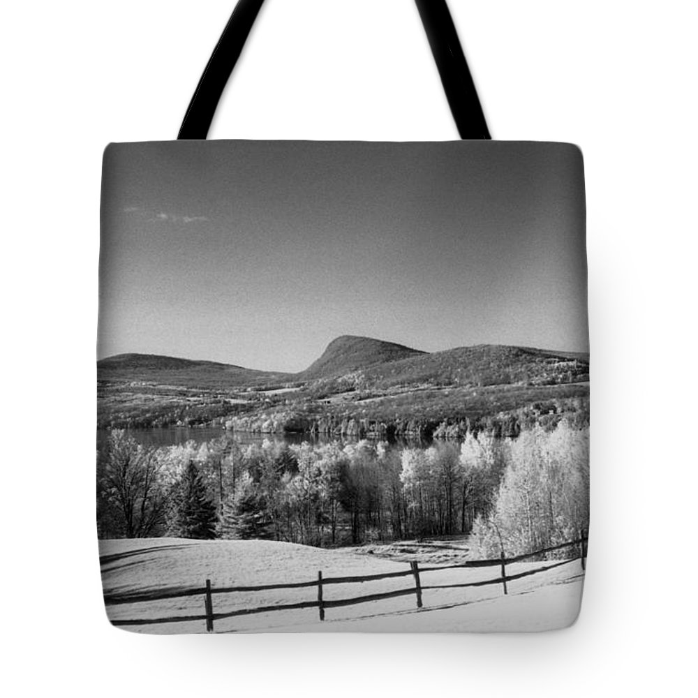 Landscape Tote Bag featuring the photograph View Of Lake Willoughby by Richard Rizzo