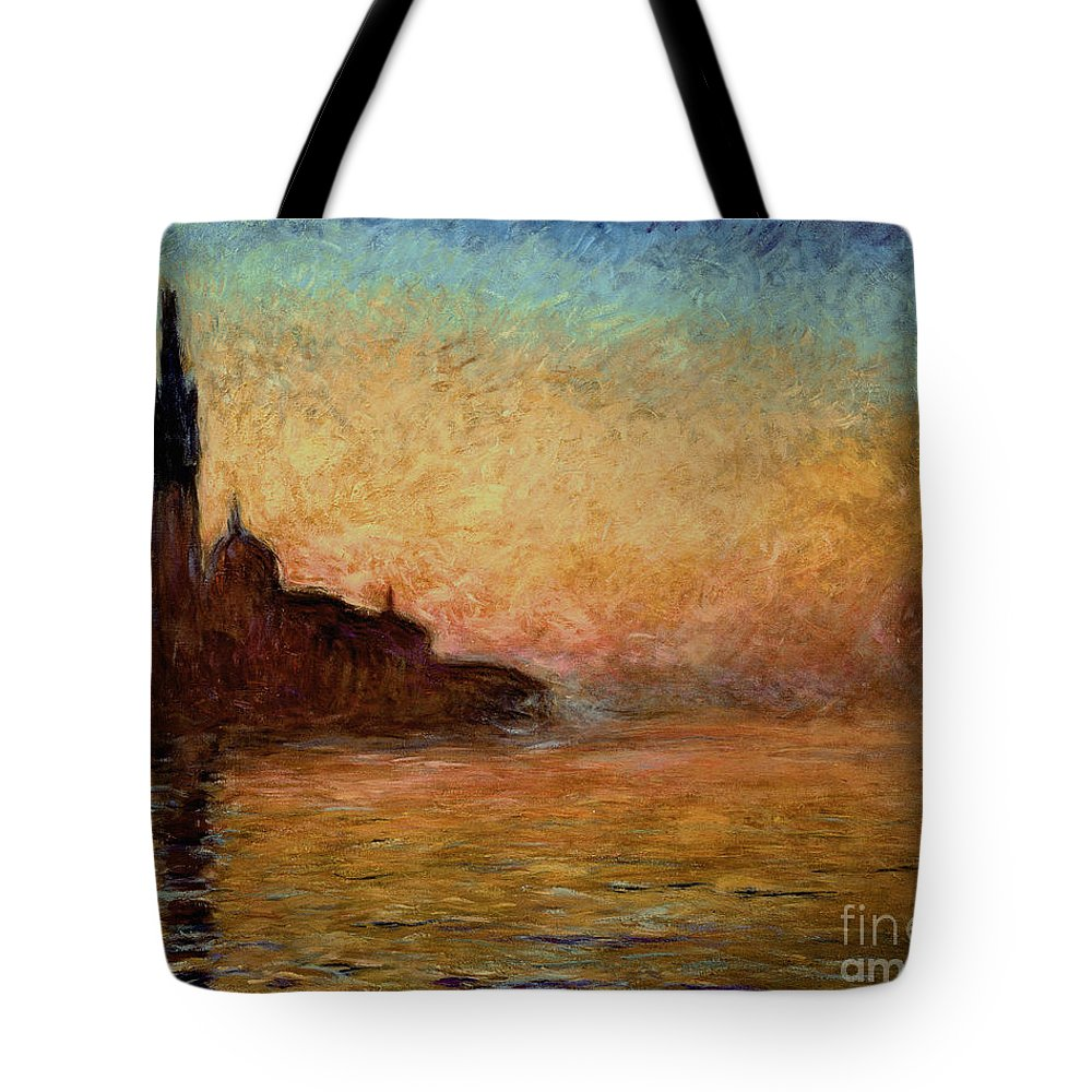View Tote Bag featuring the painting View Of San Giorgio Maggiore by Claude Monet