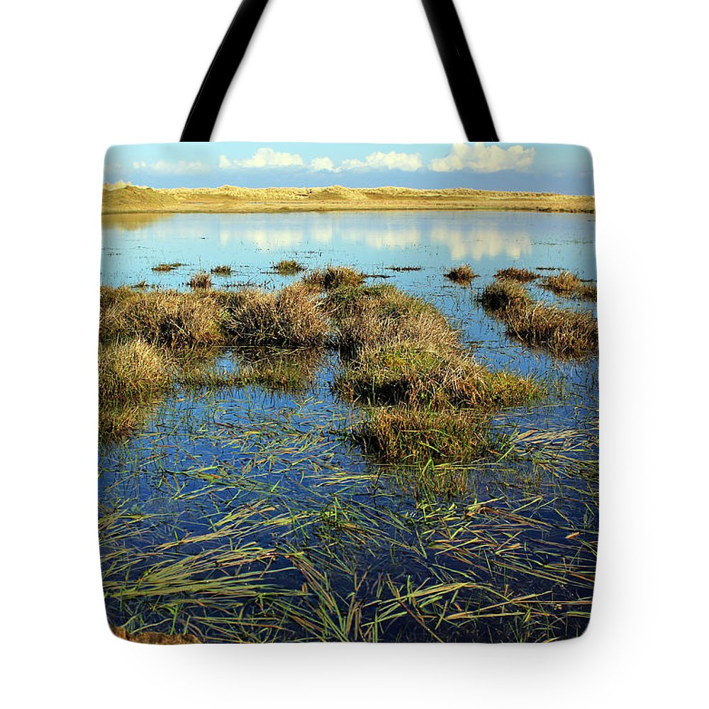Marsh. Ireland Tote Bag featuring the photograph View Of The Marsh by Jennifer Robin