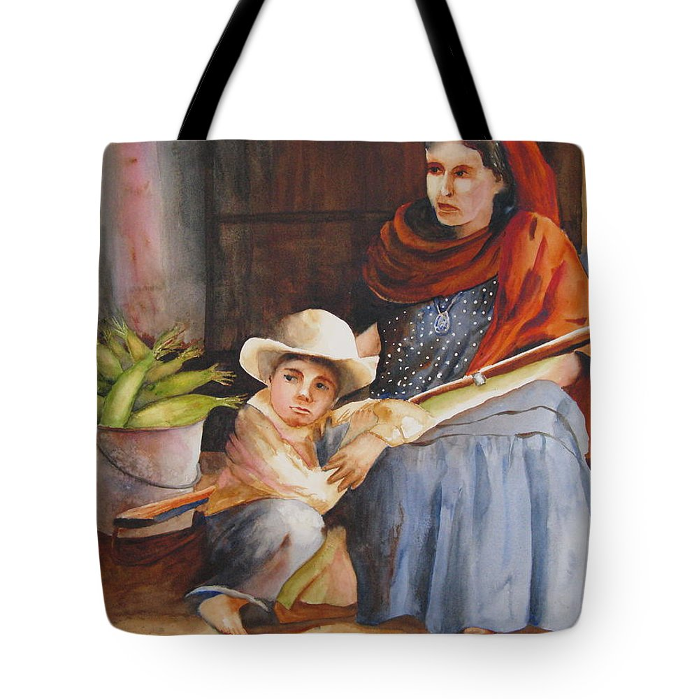 Mother Tote Bag featuring the painting Vigil by Karen Stark
