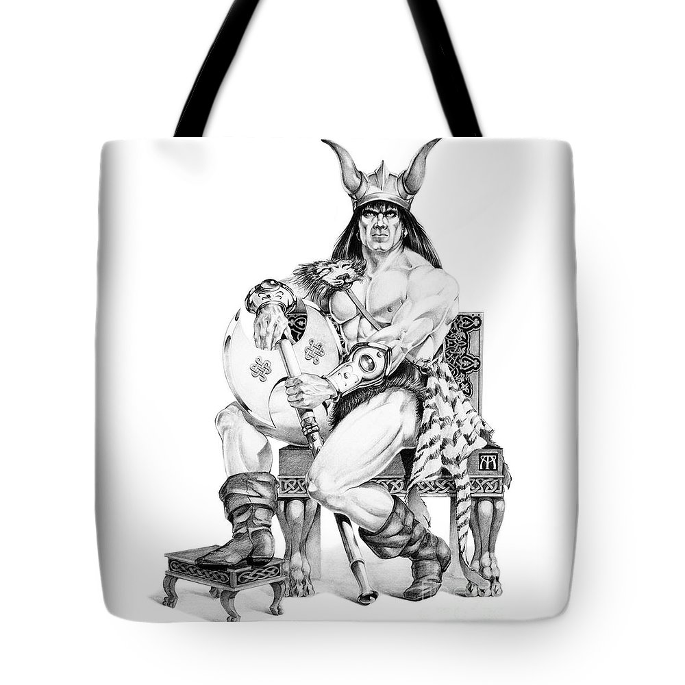 Viking Tote Bag featuring the painting Viking Warrior by Melissa A Benson