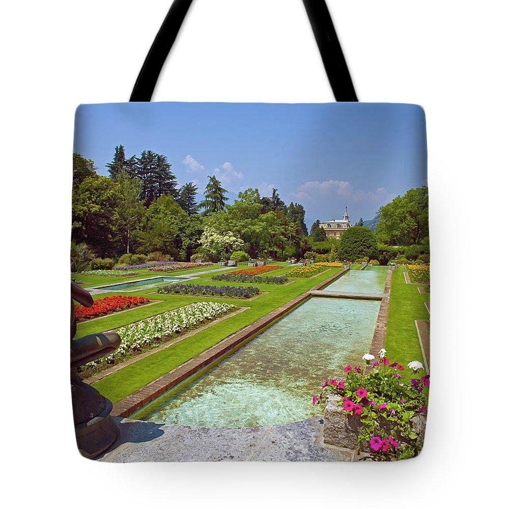 Attraction Tote Bag featuring the photograph Villa Taranto Gardens,lake Maggiore,italy by Philip Enticknap