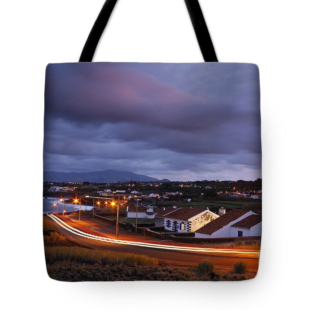 Capelas Tote Bag featuring the photograph Village At Twilight by Gaspar Avila
