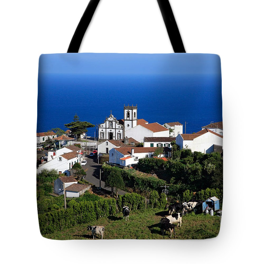 Azores Tote Bag featuring the photograph Village In The Azores by Gaspar Avila