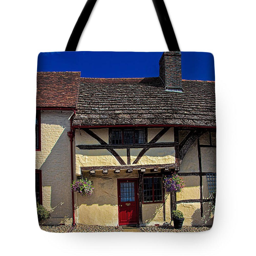 Cottage Tote Bag featuring the photograph Village Tudors by Chris Lord