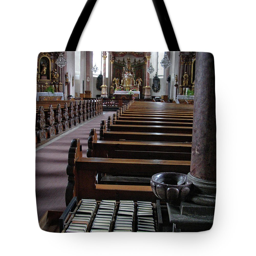 Church Tote Bag featuring the photograph Vilseck Rococo Interior by Michael Ziegler