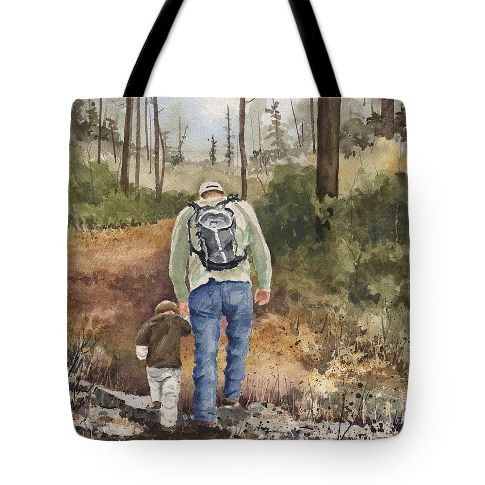 Walk Tote Bag featuring the painting Vince and Sam by Sam Sidders