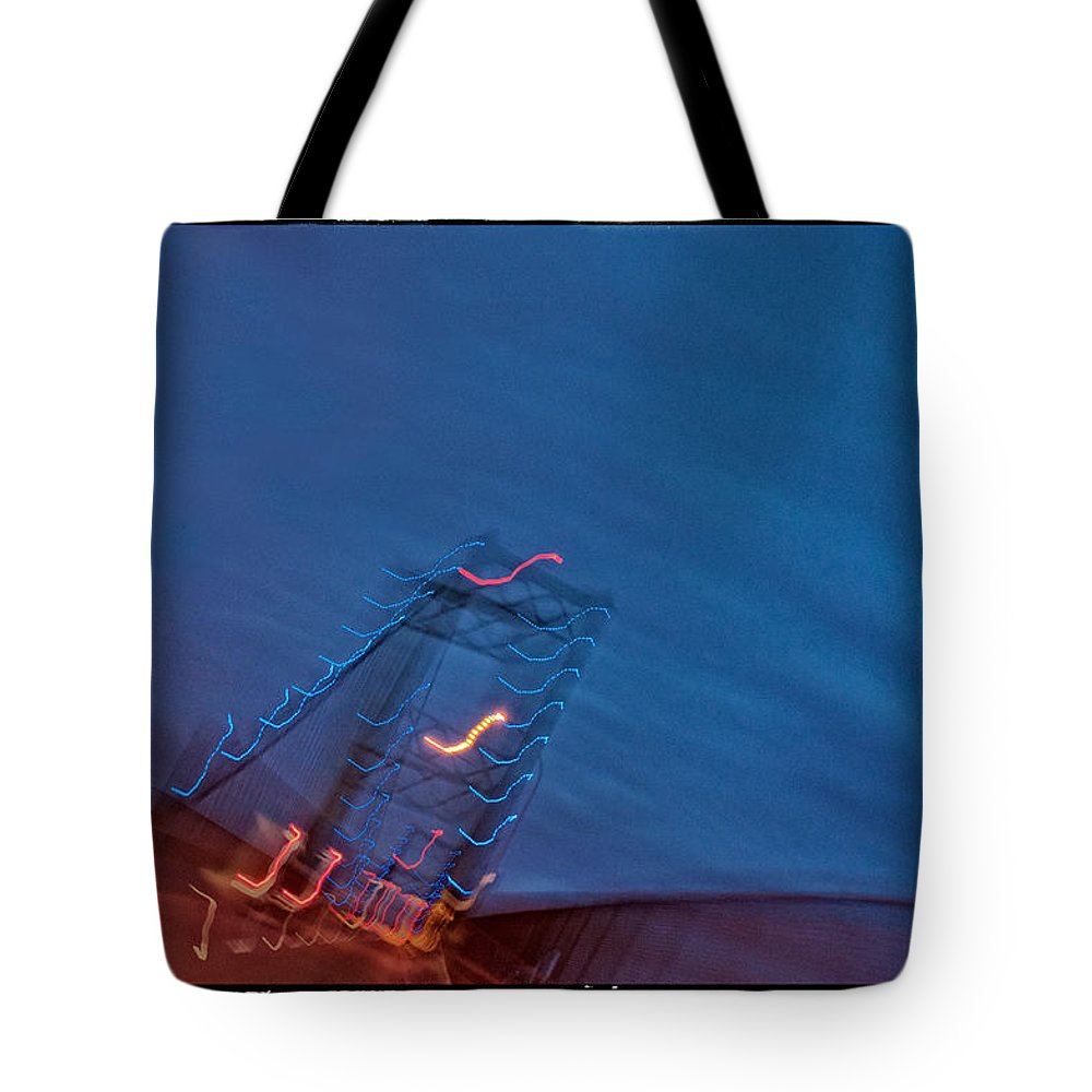 San Pedro Tote Bag featuring the photograph Vincent Thomas Bridge By Night by Michael Ziegler