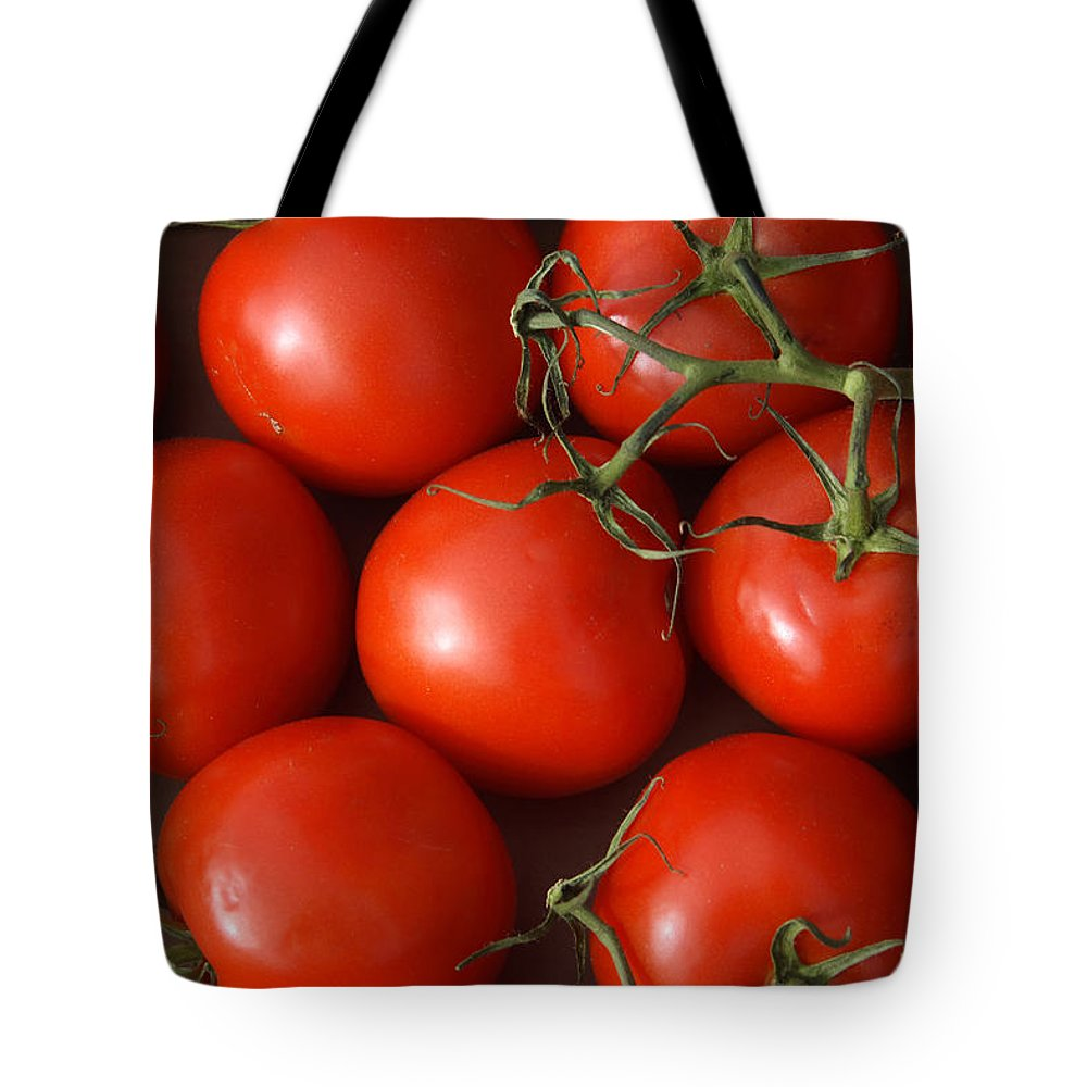 Tomatoes Tote Bag featuring the photograph Vine Ripe Tomatoes Fine Art Food Photography by James BO Insogna