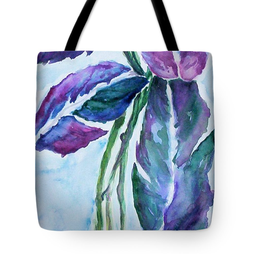 Landscape Tote Bag featuring the painting Vine by Suzanne Udell Levinger