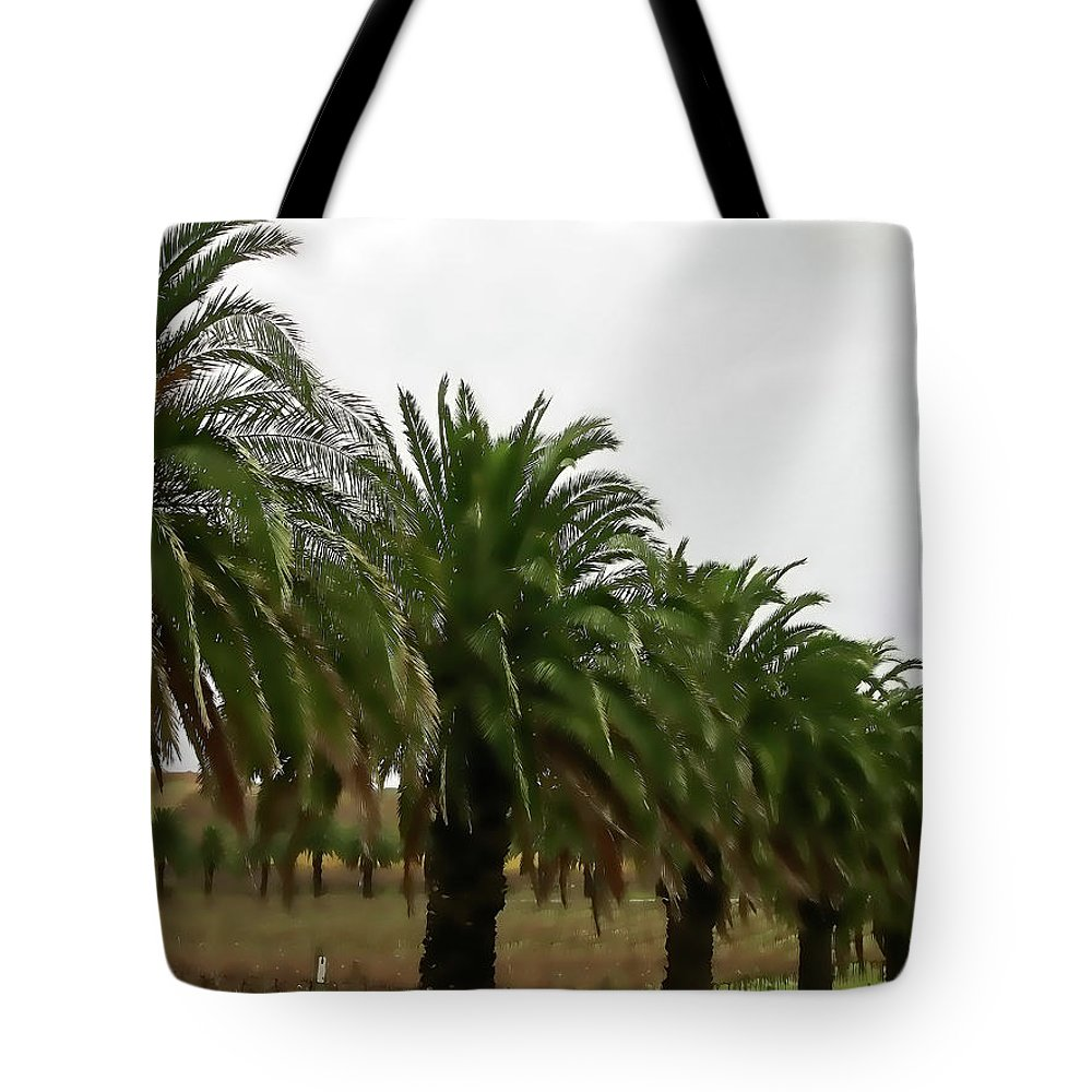 Palm Trees Tote Bag featuring the photograph Vinescape by Douglas Barnard