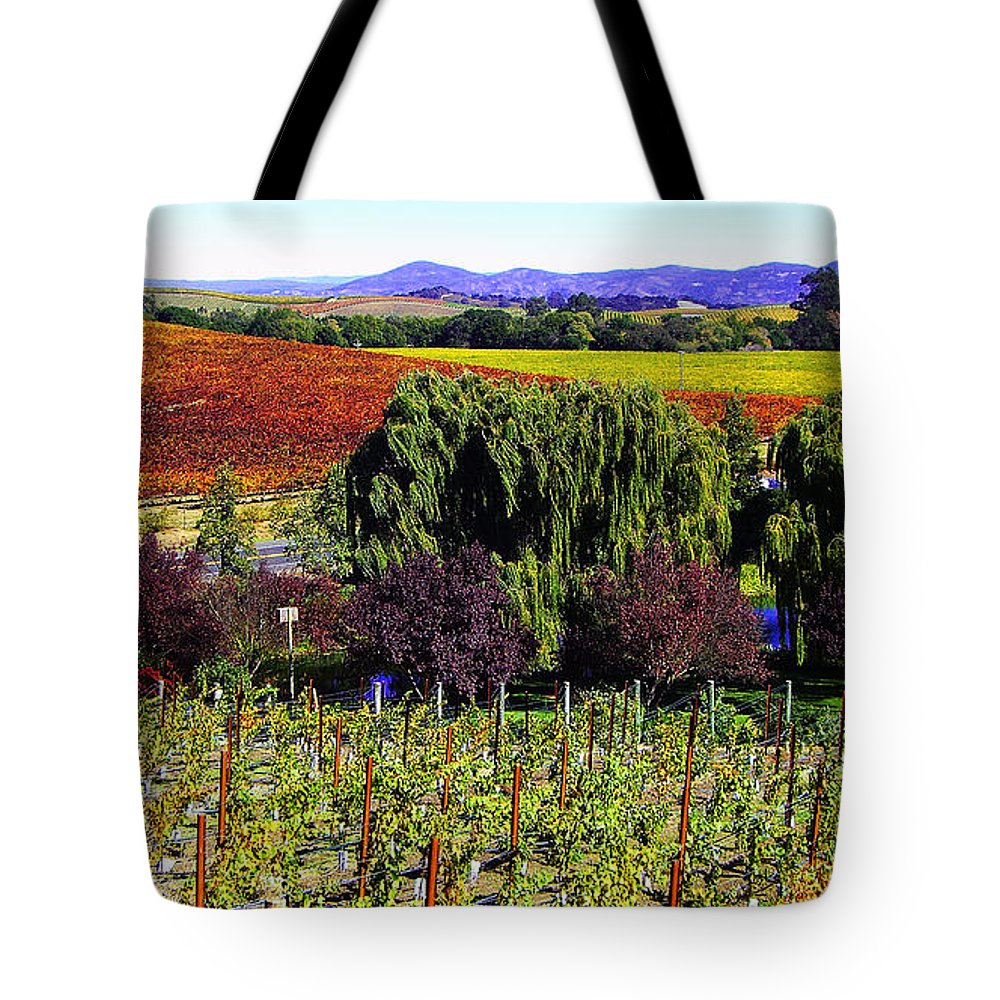 Photograph Tote Bag featuring the photograph Vineyard 5 by Xueling Zou