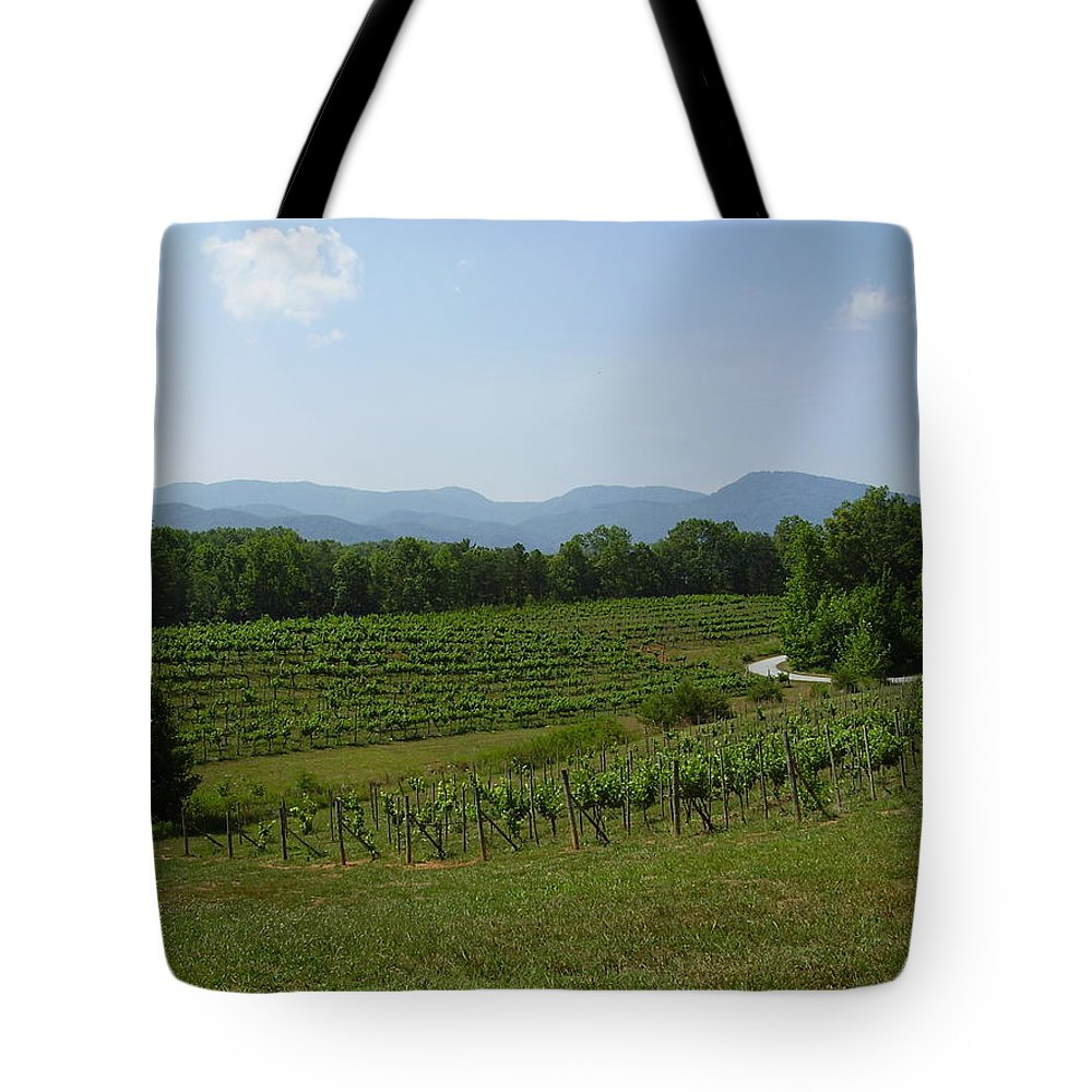 Vineyard Tote Bag featuring the photograph Vineyard by Flavia Westerwelle