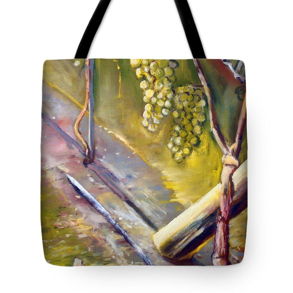 Landscape Tote Bag featuring the painting Vinnej Cvok by Pablo de Choros