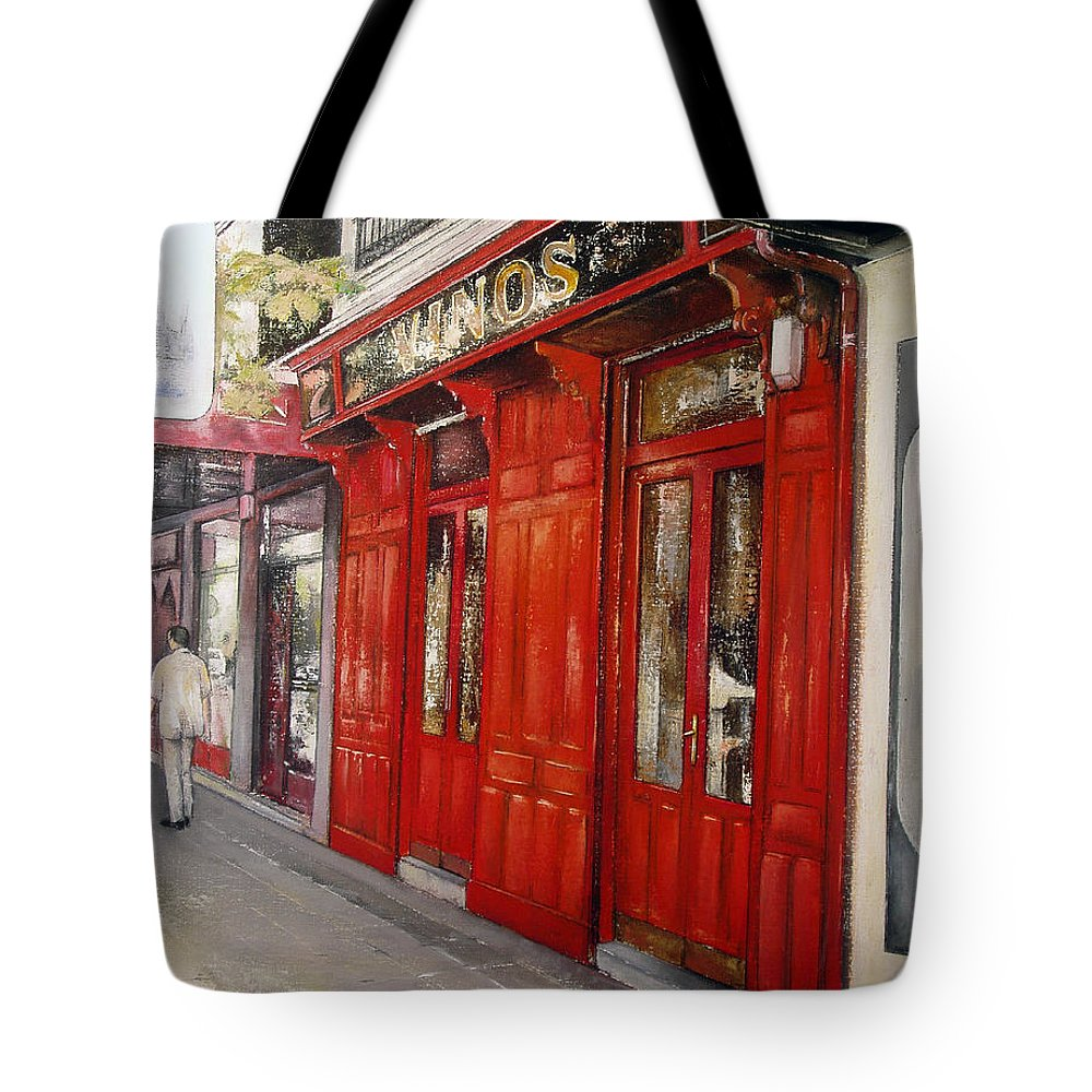 Urban Tote Bag featuring the painting Vinos Sagasta by Tomas Castano