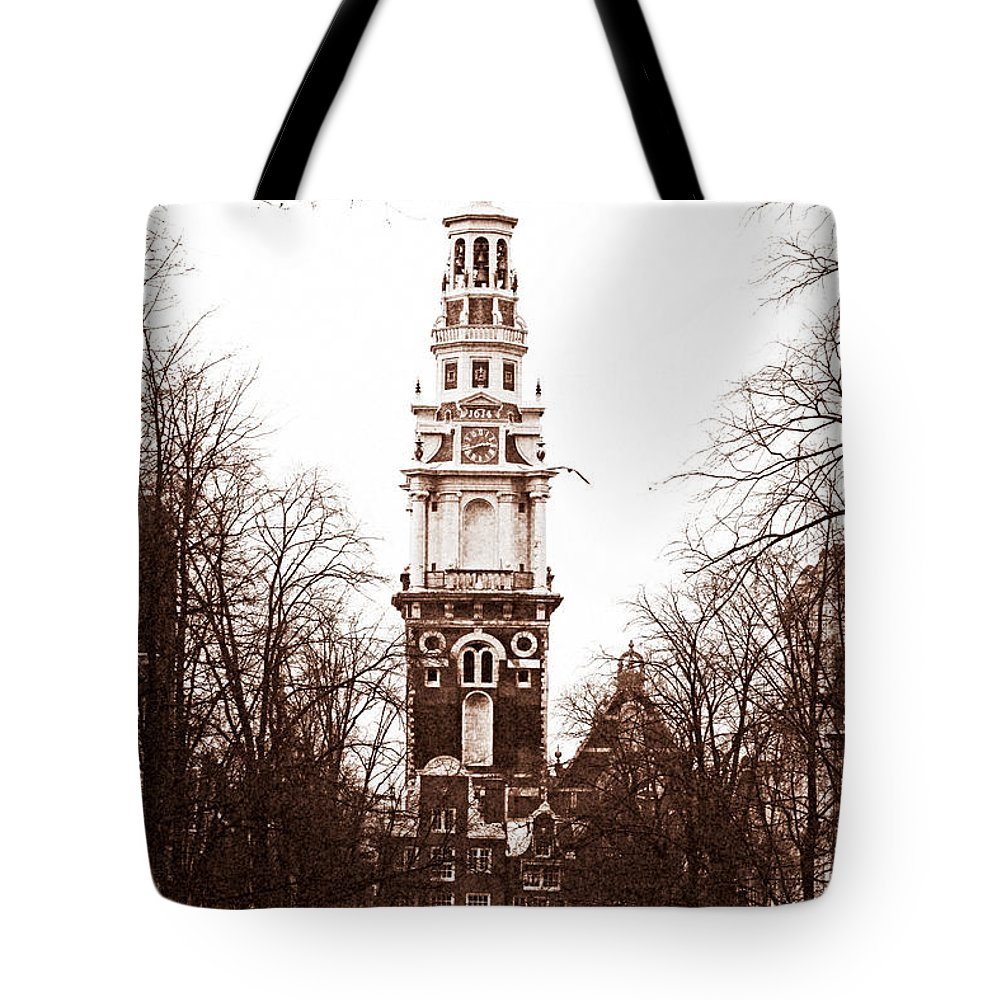 Vintage Amsterdam Tote Bag featuring the photograph Vintage Amsterdam by John Rizzuto