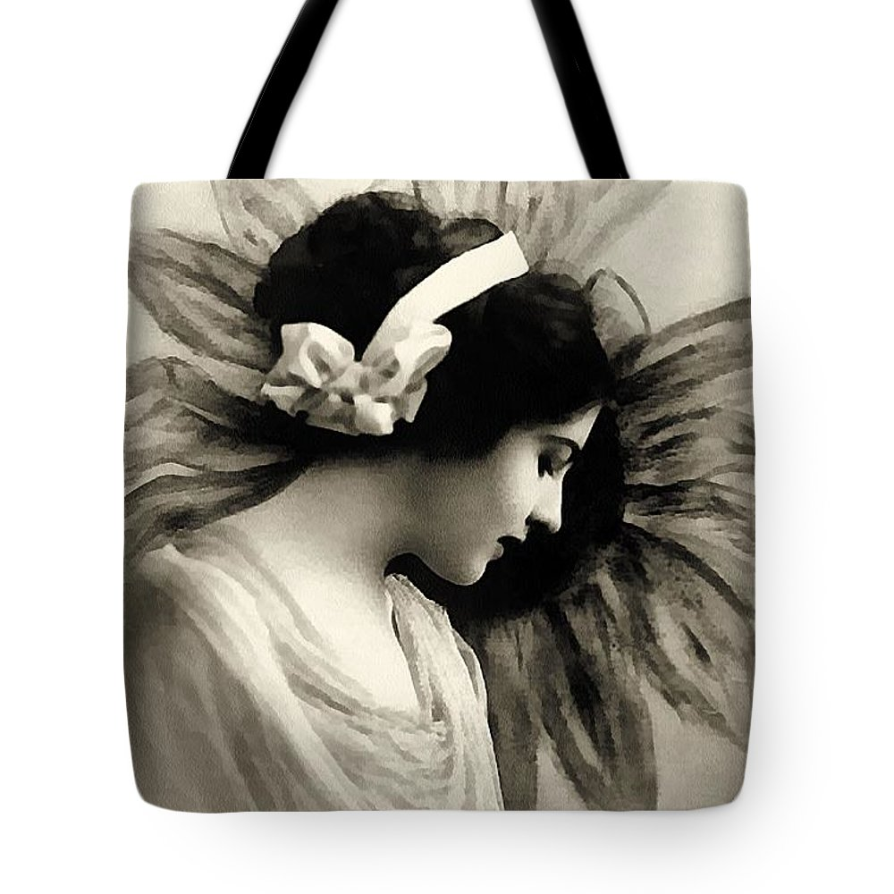 Vintage Tote Bag featuring the painting Vintage Beauty by Georgiana Romanovna