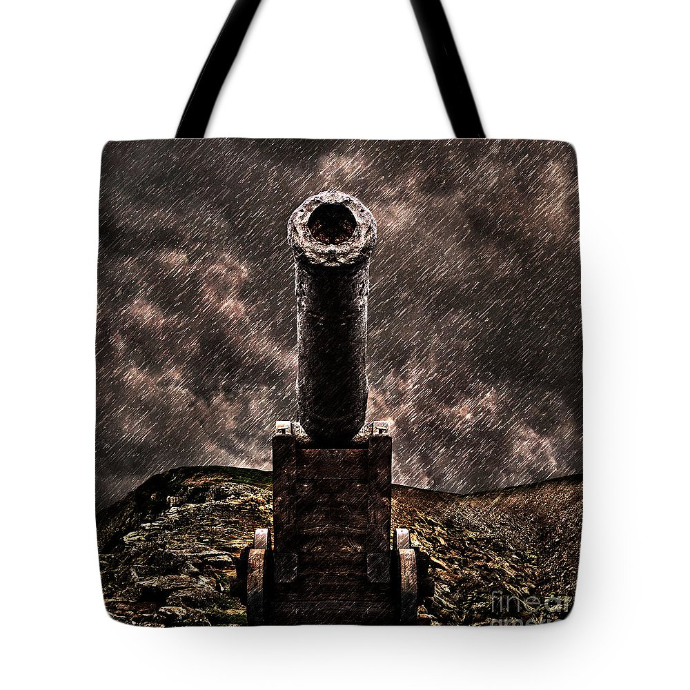 Vintage Tote Bag featuring the photograph Vintage Cannon by Milan Karadzic