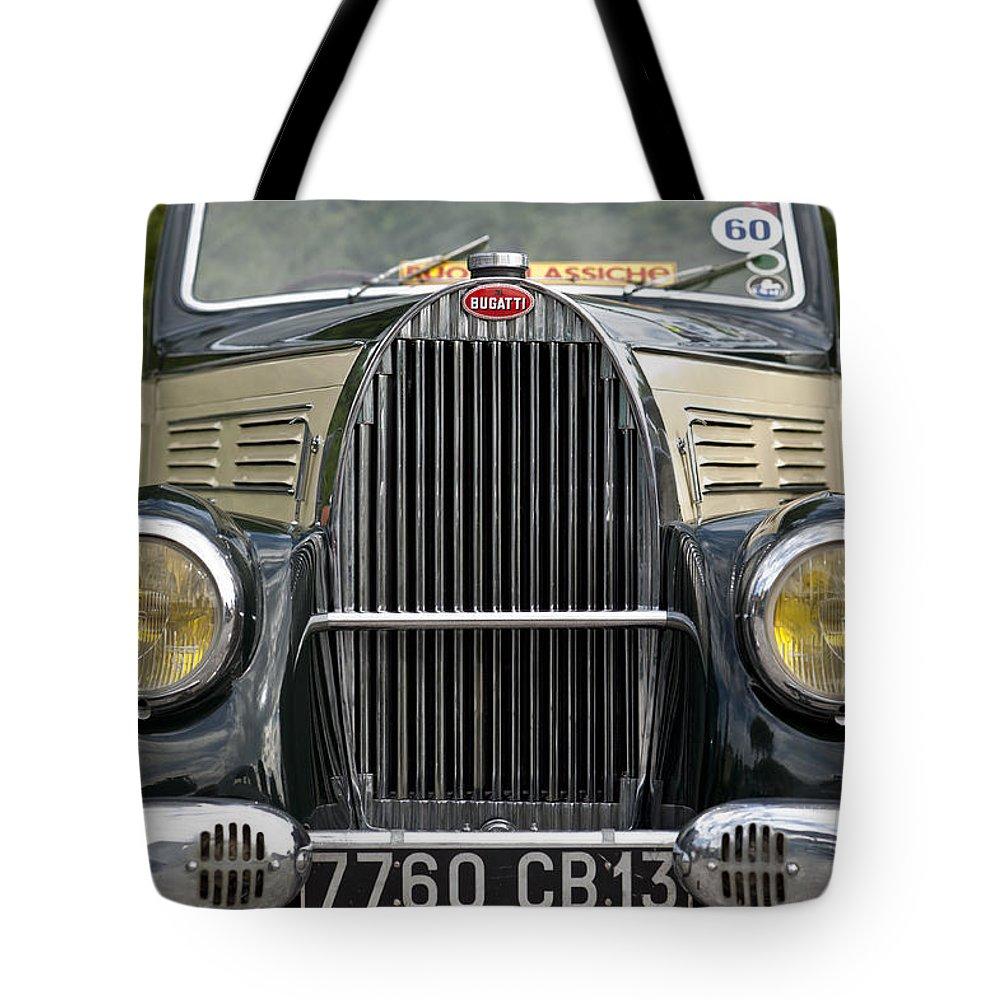 Bugatti Tote Bag featuring the photograph Vintage Car by Massimo Battaglia