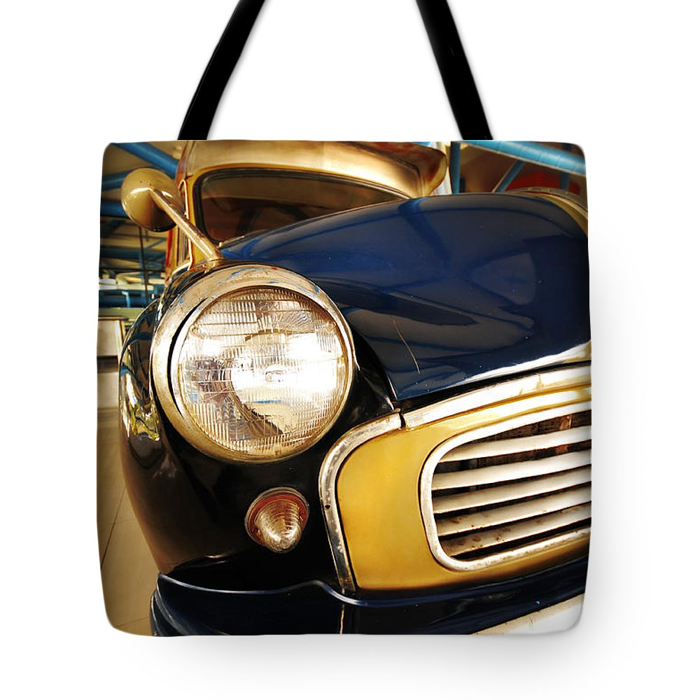 Vintage Car Tote Bag featuring the photograph Vintage by Charuhas Images