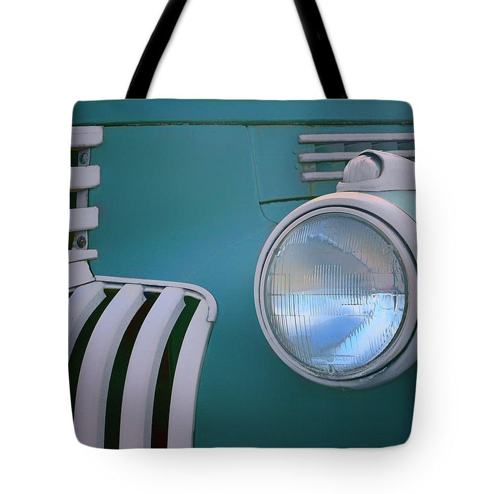 Tank Wagon Tote Bag featuring the photograph Vintage - Chevrolet Truck - Detail 1 by Nikolyn McDonald