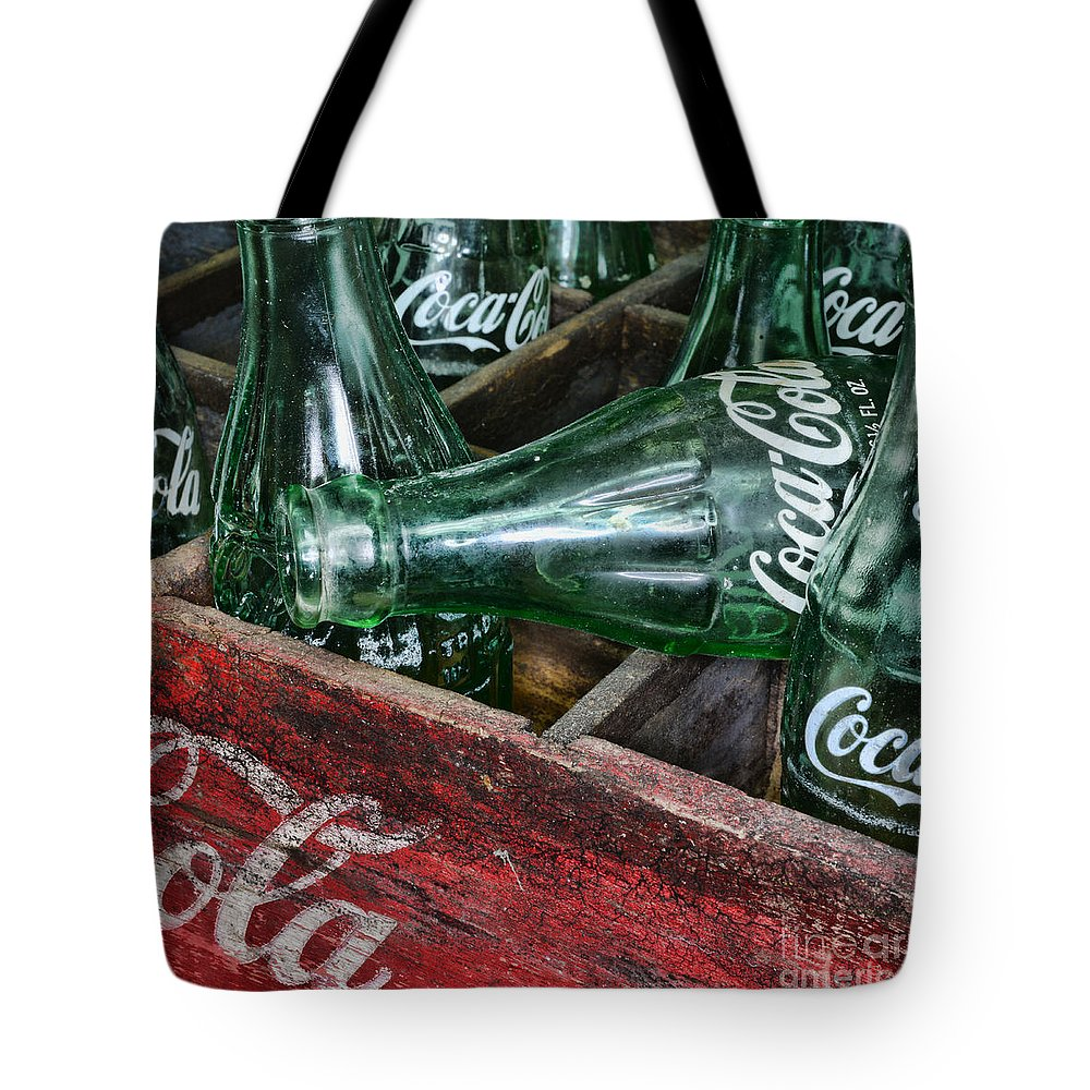 Coke Tote Bag featuring the photograph Vintage Coke Square Format by Paul Ward