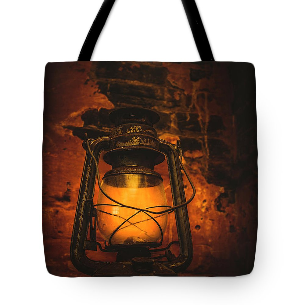 Lantern Tote Bag featuring the photograph Vintage Colonial Lantern by Jorgo Photography - Wall Art Gallery