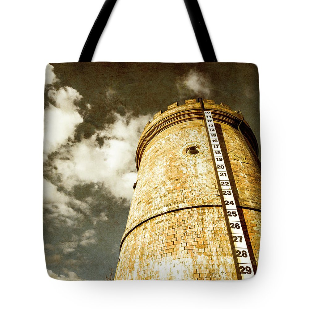 Vintage Tote Bag featuring the photograph Vintage Evendale Water Tower by Jorgo Photography - Wall Art Gallery