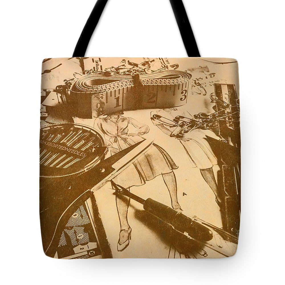 Crafting Tote Bag featuring the photograph Vintage Fashion Design by Jorgo Photography - Wall Art Gallery