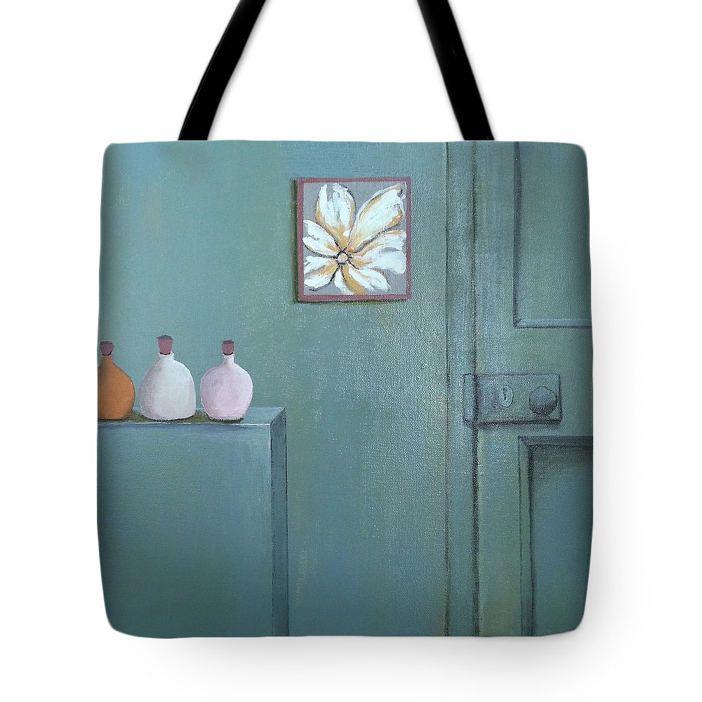 Modern Tote Bag featuring the painting Vintage by Florentina Maria Popescu