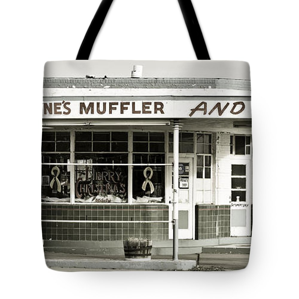 Filling Station Tote Bag featuring the photograph Vintage Gas Station by Marilyn Hunt