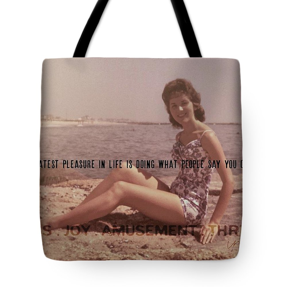 Vintage Tote Bag featuring the photograph Vintage Glamour Quote by JAMART Photography