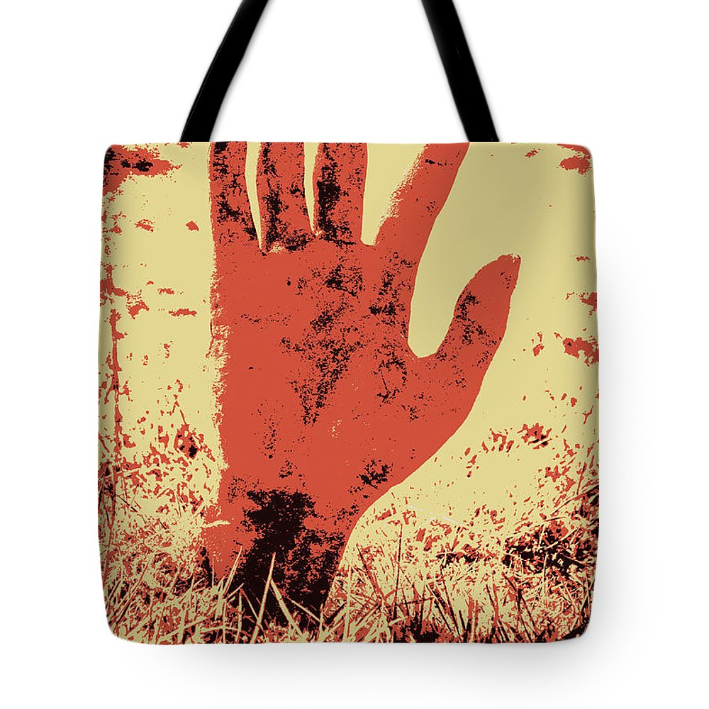 Dark Tote Bag featuring the photograph Vintage Horror Poster Art by Jorgo Photography - Wall Art Gallery