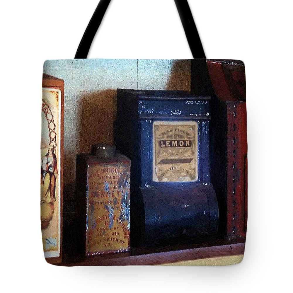 Americana Tote Bag featuring the painting Vintage Kitchen Magick by RC DeWinter