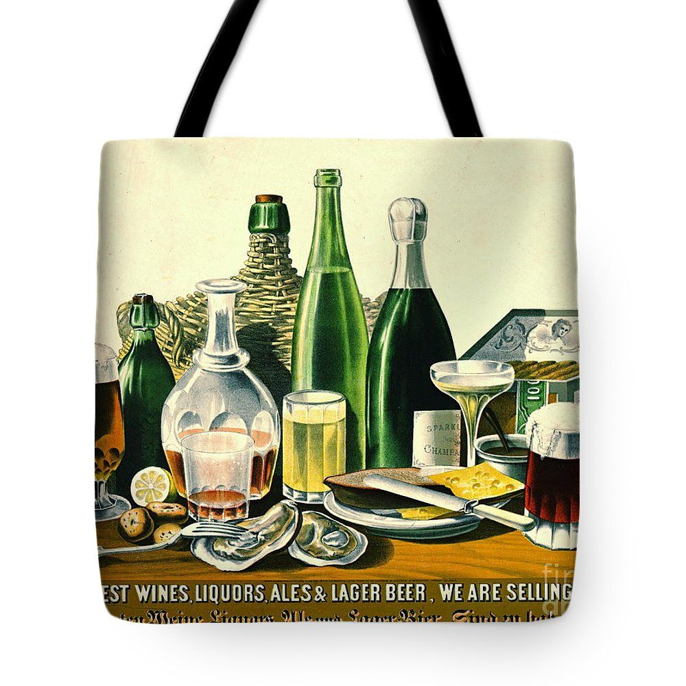 Vintage Liquor Ad 1871 Tote Bag featuring the photograph Vintage Liquor Ad 1871 by Padre Art
