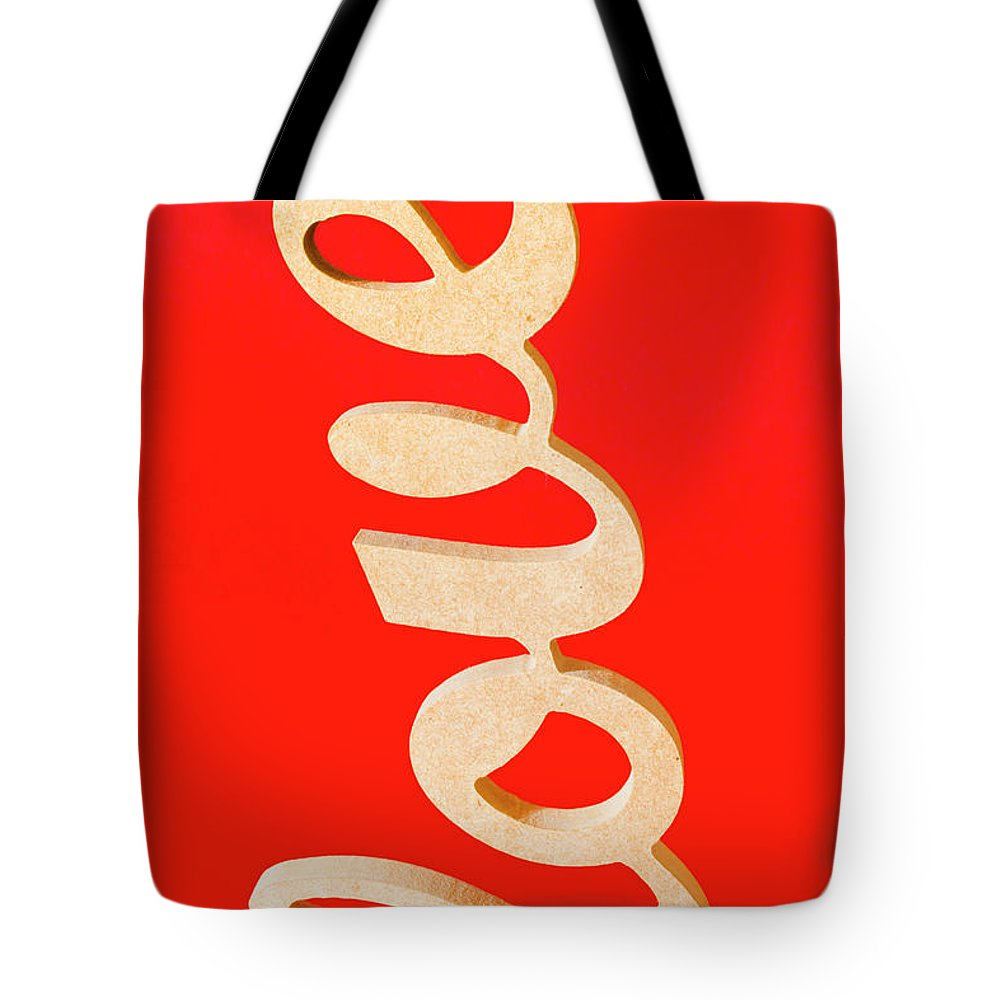Love Tote Bag featuring the photograph Vintage Love Sign by Jorgo Photography - Wall Art Gallery