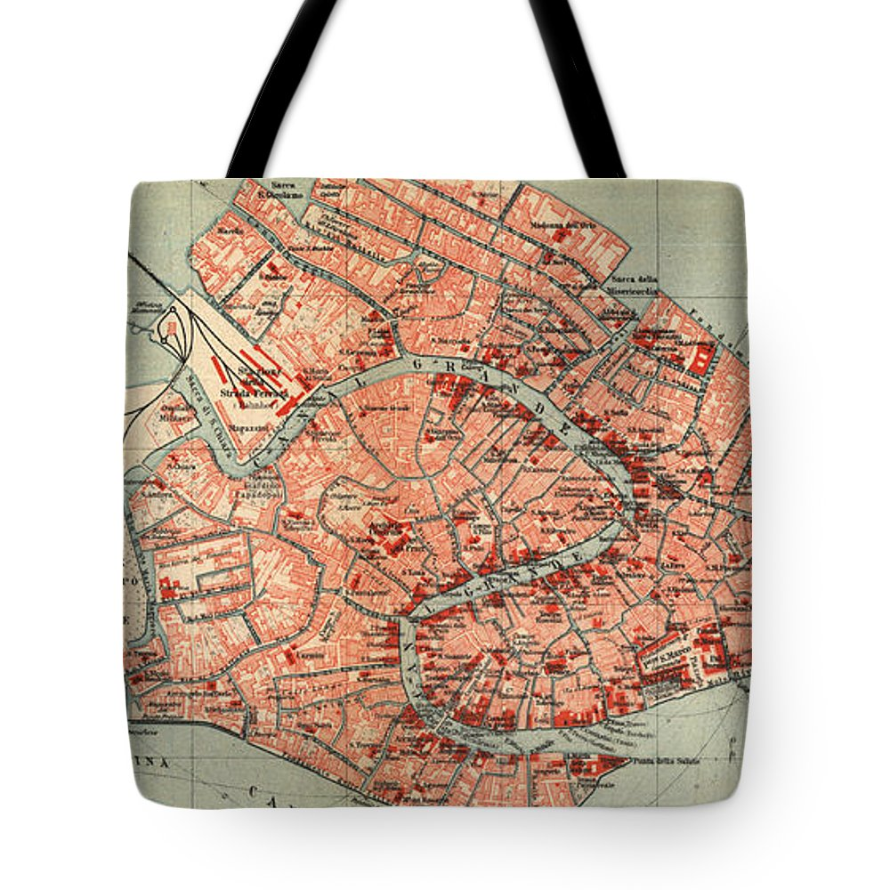 Vintage map of venice italy 1920 tote bag for sale by venice tote bag featuring the drawing vintage map of venice italy 1920 by cartographyassociates gumiabroncs Images