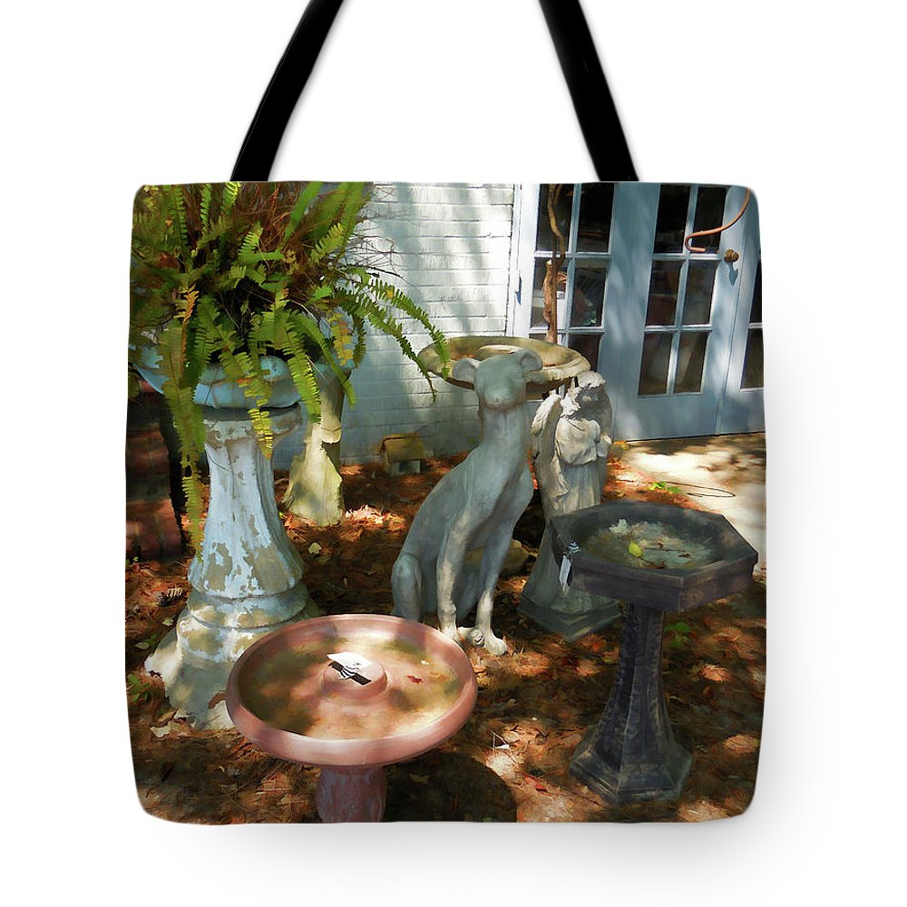 Vintage Outdoor Decor Tote Bag featuring the painting Vintage Outdoor Decor by Jeelan Clark
