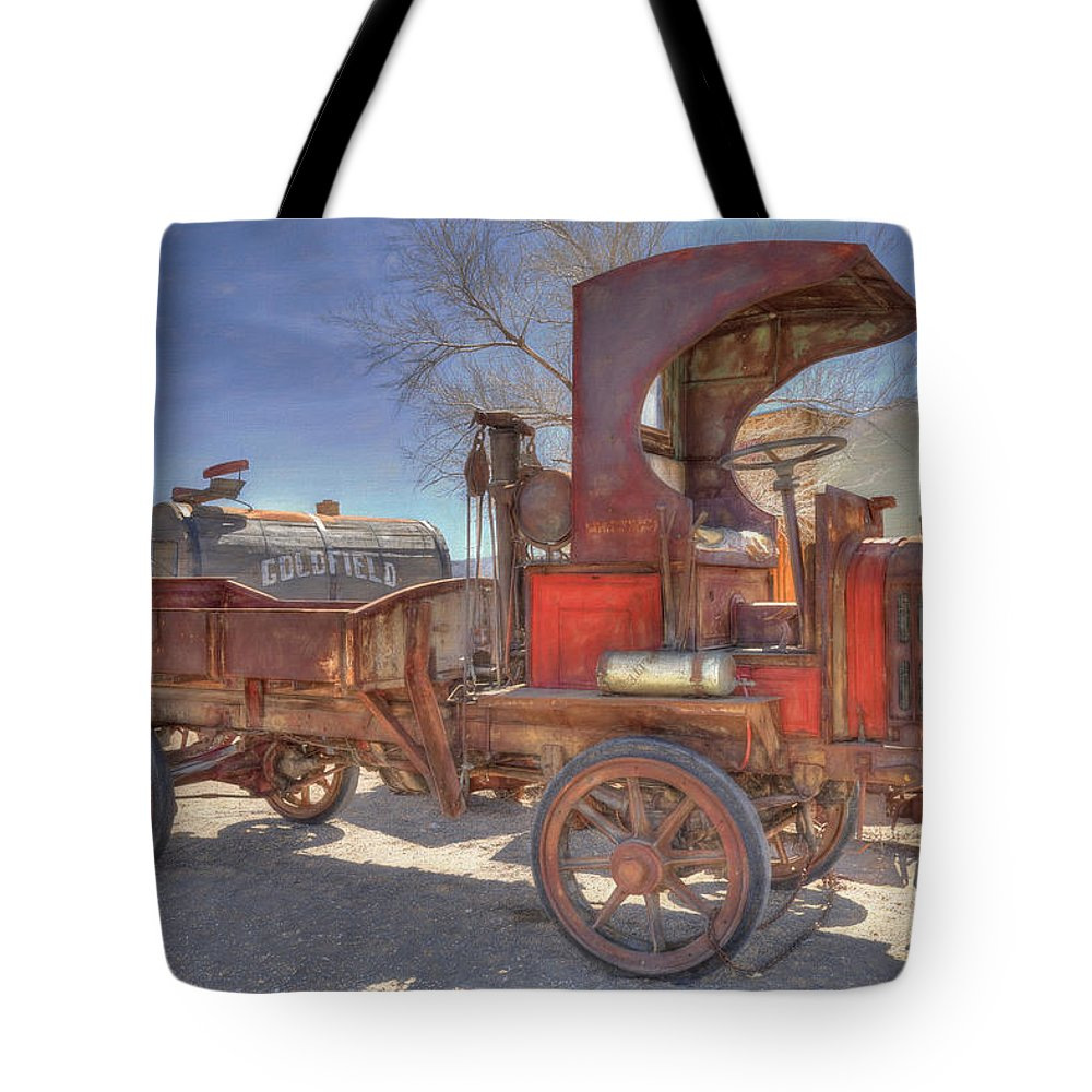 Packard Tote Bag featuring the photograph Vintage Packard Truck by Donna Kennedy