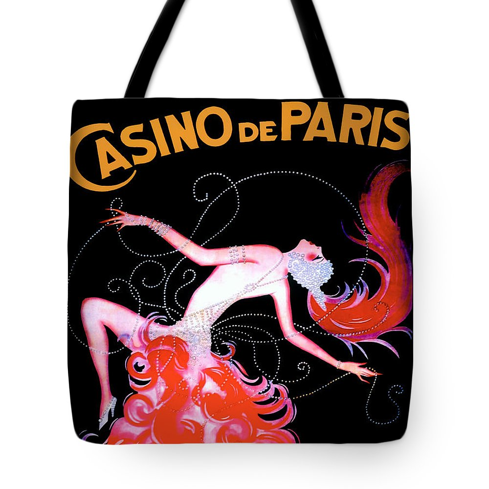 Vintage Tote Bag featuring the painting Vintage Paris Showgirl by Mindy Sommers