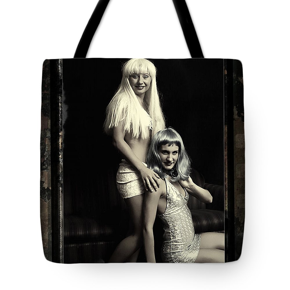 Clay Tote Bag featuring the photograph Vintage Party Girls by Clayton Bruster