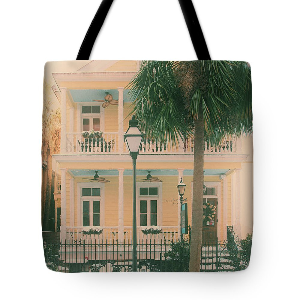Poogan's Porch Tote Bag featuring the photograph Vintage Poogans Porch by Dale Powell