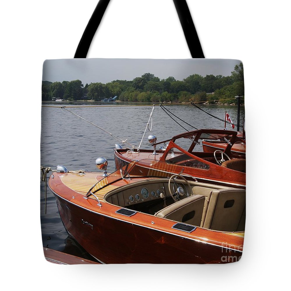 Boats Tote Bag featuring the photograph Vintage Row by Neil Zimmerman