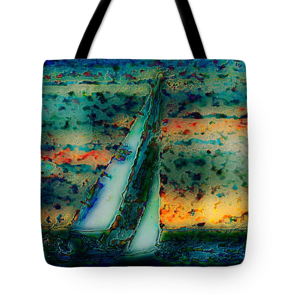 Ebsq Tote Bag featuring the photograph Vintage Sailboat by Dee Flouton